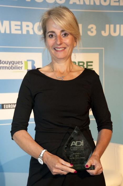Trophée innovation Agnès Coulombe, Directrice de l'immobilier d'exploitation GROUPE CRÉDIT AGRICOLE SA
