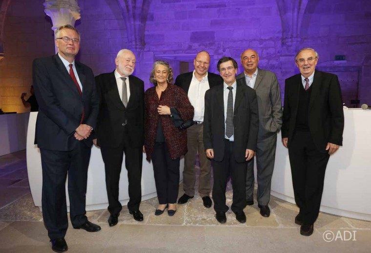 Stéphane Bazin, Jean-Louis Dumont, Florence Péronnau, Guillaume Poitrinal, Christian Cléret, Jean-Paul Bailly et Hervé Maupin
